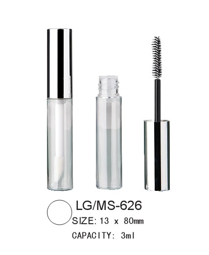 empty round lipgloss/mascara packaging