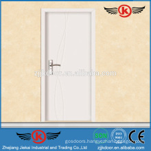 JK-P9063 white gross interior pvc mdf flush panel doors for kitchen cabinet