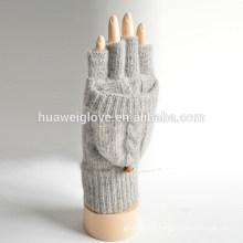 Filles adultes fabricant de gants d'hiver tricotés à l'acrylique 100% acrylique