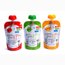 Custom Plastic Spout Packaging Bag Baby Food Pouch