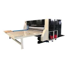 Chain feeding 3 colors corrugated carton box flexo printing slotting machine
