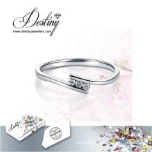 Destino joias cristal de Swarovski anel novo anel único
