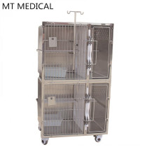 veterinary clinic Stainless steel animal cat breeding cage vet cages for cats