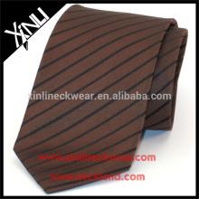 Corbata para hombre 100% hecha a mano de seda de la raya de la raya