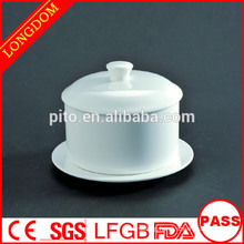 2015 New Design hot sale hotel restaurant ceramic soup bowl with cover with holder