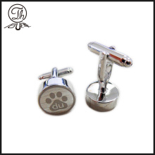 Footprint novelty cufflinks silver