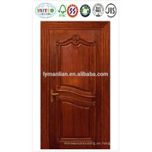 Piel de la puerta de HDF con chapa, papel de melamina o imprimación blanca
