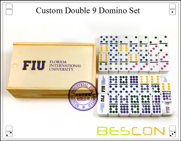 Custom Double 9 Domino Set