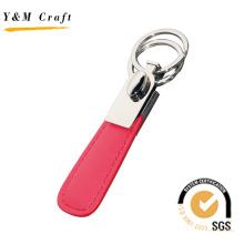 Пользовательские специальный высокое качество PU красного цвета кожаный металлический брелок