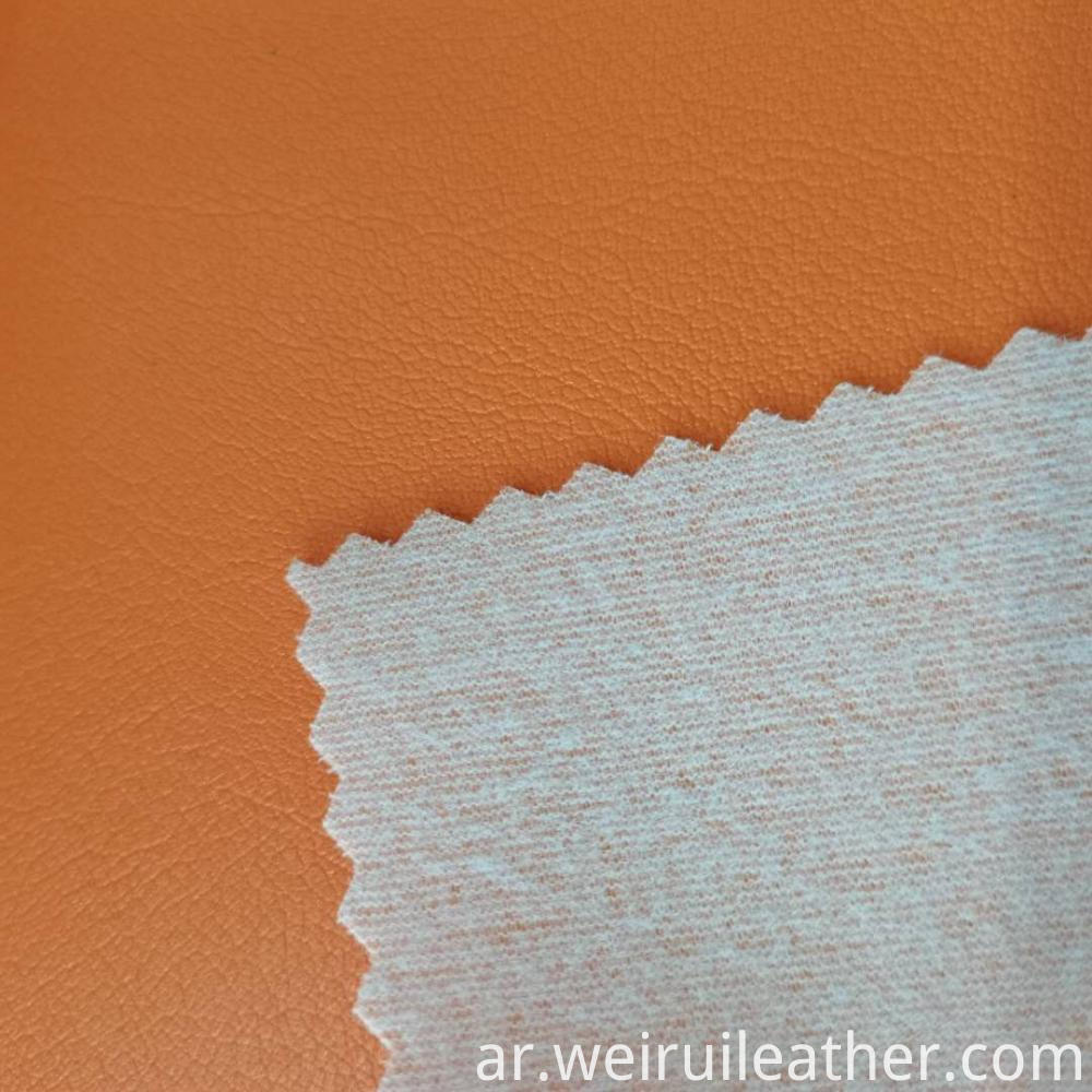 0 7mm Orange Pvc Leather With Terry
