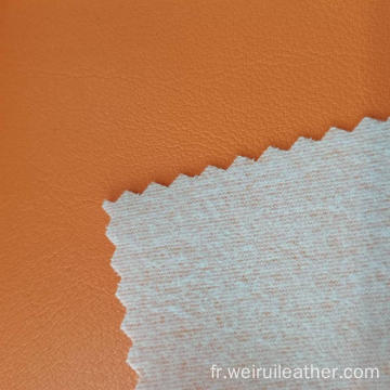 Cuir PVC Naturel Orange Confortable
