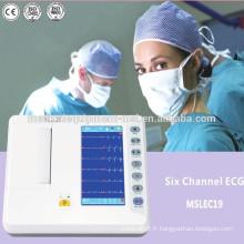 Machine ECG à électrocardiographe numérique bon marché (6 canaux)