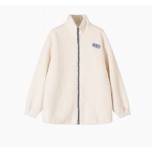 Chaqueta casual con abrigo de piel sintética de peluche para mujer
