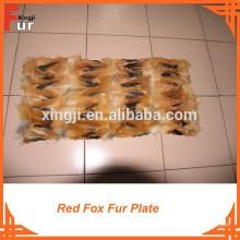Fox Fur Plate hecho de patas de Fox rojo