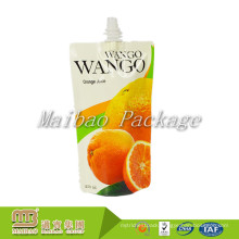 Factory Wholesale Gravure Printing Recyclable Drink Package Plastic Fruit Juice Spouted Bag