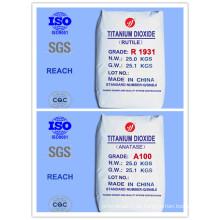 Rutilo Económico y Anatase Grado de Dióxido de Titanio (Top 10 Fabricante)