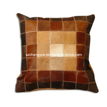 One Side Natural Cowhide Work Pillows Without Fillings