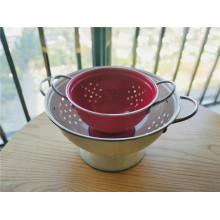 Набор эмалированных кухонных дуршлагов 2