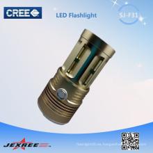 ¡Nueva luz llevada nueva de la bahía de Jexree !! 3xCREE XM-L T6 2500LM 5 Modos LED Camping Accesorios Linterna Portátil