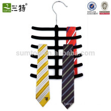 rubber tie rack hanger black