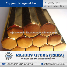 Excellent Services Life Copper Hexagonal Bar/ Rod from Reliable Manufacturer