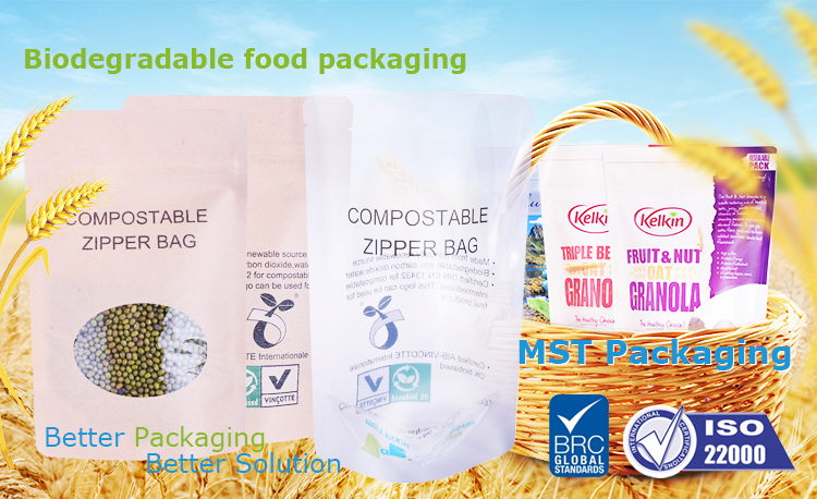 biodegradable pouch with zipper