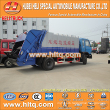 DONGFENG 4x2 12 M3 back-loading squeeze refuse collector with pressing mechanism diesel engine 190 hp