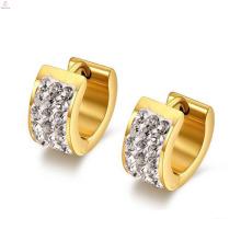 Big Elegant Gold Stainless Steel Hoop Wedding Earrings Designs
