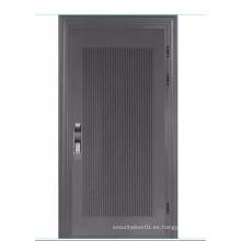 Puerta de seguridad de acero de aluminio con bloqueo de código