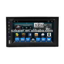 Doble Din 6.2 pulgadas de GPS táctil completo del coche gps con estéreo, gps headunit para universal con AUX, MIC, manos libres Bluetooth