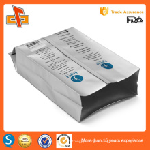 Side gusset aluminium foil laminated custom printing coffee bean packaging bags with valve