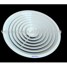 diffuseur d'air circulaire en aluminium pour ventilation d'air