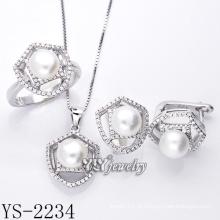 Jóias de moda cultivadas Pearl Set prata 925 (YS-2234)