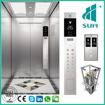 Gute Qualität Beifahrer Aufzug mit konkurrenzfähigem Preis Maschinen-Raum-Weniger niedriges Geräusch