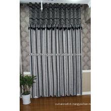 horizontal stripe polyester curtain fabric/ cheap curtain