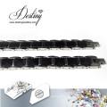 Destino joias cristais de Swarovski bracelete preto pulseira de cerâmica