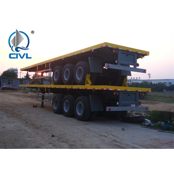 3 trục Trailer bán container phẳng 20 '/ 40'