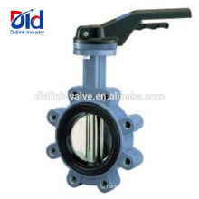 Triple Offset Pneumatic Powder Cast Iron Rubber Lined Butterfly Valve Lug Type Butterfly Valve China
