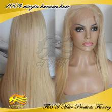 613 цвет парик индийский Девы человеческих волос полный парик шнурка