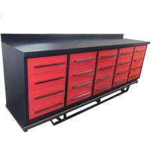 Boa qualidade de metal 20 armários de bancada de gaveta para garagem levou continuar a usar