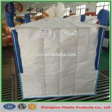 Polypropylene One Ton Iron Ore Bulk Bag , Q-Big Bags 1000kg Baffle Bags