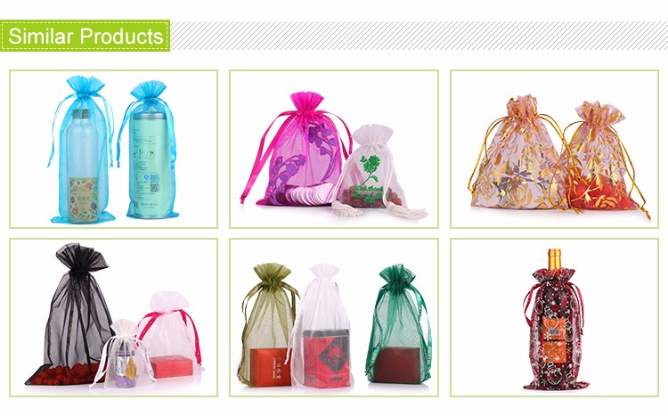 wholesale exquisite customized size organza pouch