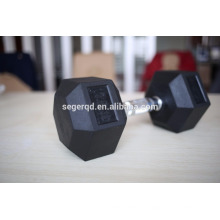 mancuernas hexagonales recubiertas de goma de hierro fundido