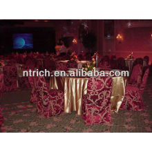 Fascinating damask chair cover, jacquard chair cover for banquet/wedding