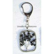 Natural A pedra da microplaqueta do floco da neve pendente a chaveiros