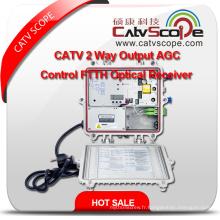 Fournisseur professionnel Haute performance CATV 2way Output Agc Control FTTH Optical Receiver