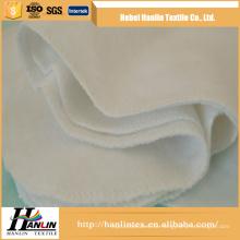 Einfacher Webart 100% cotton / cvc 120gsm weißer Flanellgewebe für Babydecke / Windel thailand
