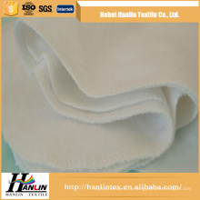 Полотно оптовой продажи 100% cotton / cvc 120gsm белая ткань фланели для одеяла / пеленки младенца Таиланд