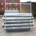 stand-alone chain link fence panel