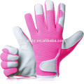 Bequeme Slim-Fit Leder Arbeitshandschuhe Gärtner Handschuhe-Ideal Geschenk für Männer, Frauen (Feminine / Ladies) bei Jubiläum, Weihnachten